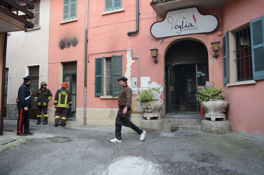 """Colico incendio nel ristorante """"La Voglia"""""""
