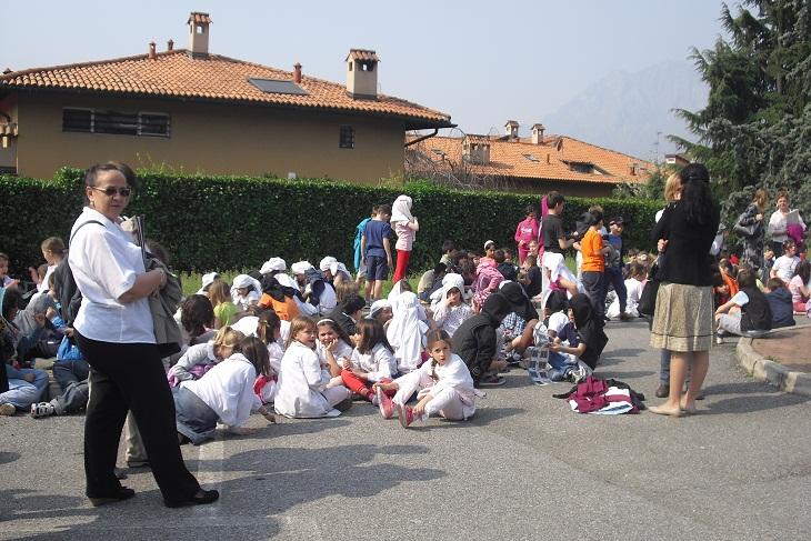 esercitazione terremoto scuole lecco 1