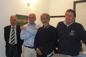 Da sinistra: Salvatore Capello, Fausto Crimella, Renato Muratore, Mario Frigerio