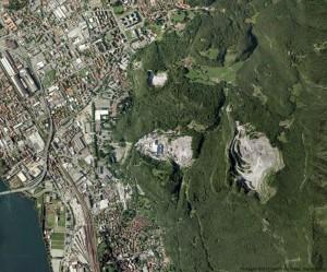 cave a Lecco - satellite