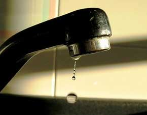 rubinetto senza acqua