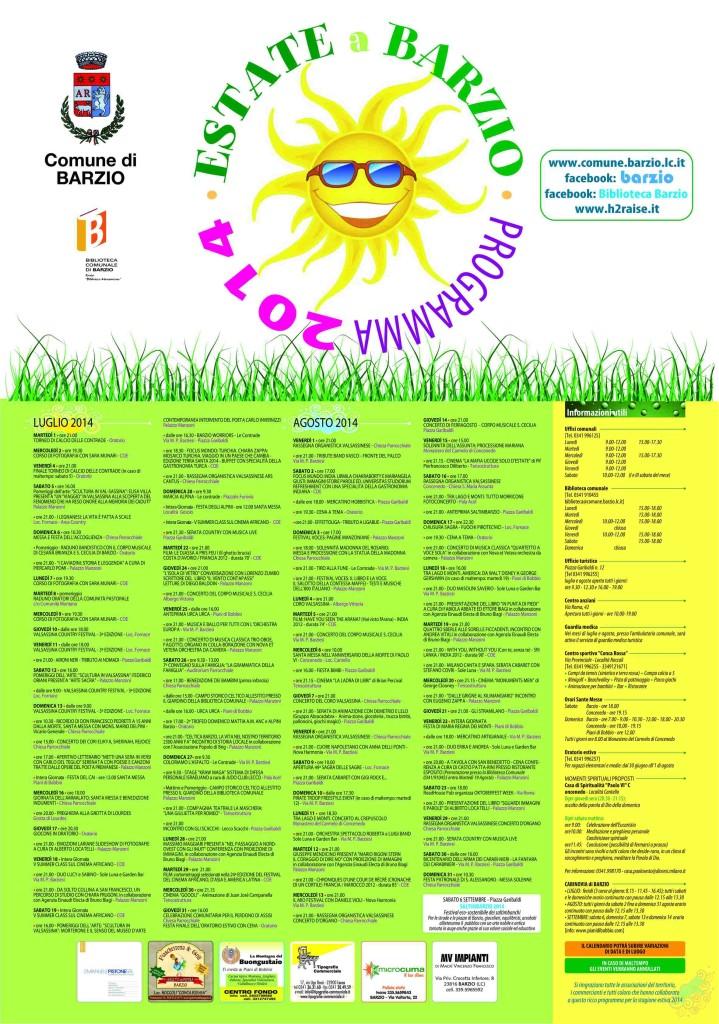 BARZIO ESTATE 2014 poster