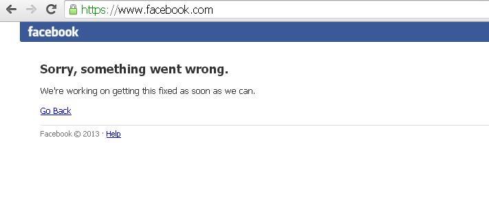 facebook non va