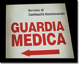 guardia medica cartello