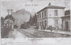 Cartolina Stazione di Maggianico 1904