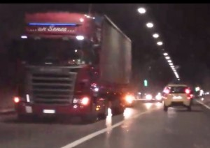 camion panne galleria
