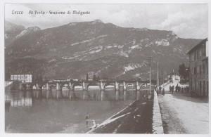 Ponte Azzone Visconti visto dalla riva di Malgrate, 1926