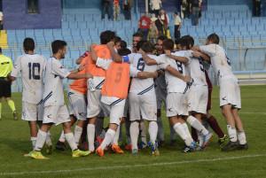 Calcio Lecco Esultanza Fine Partita