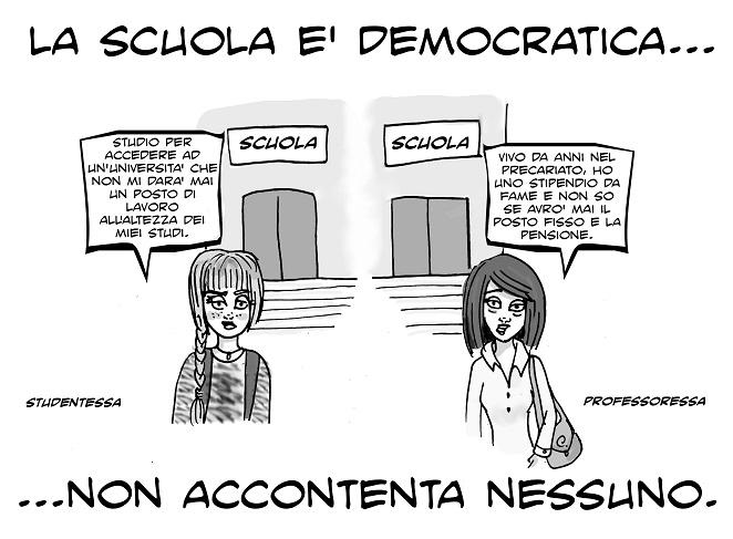 Favoloso LA VIGNETTA DELLA DOMENICA: UNA SCUOLA, DUE FACCE | LeccoNews.LC  XO87