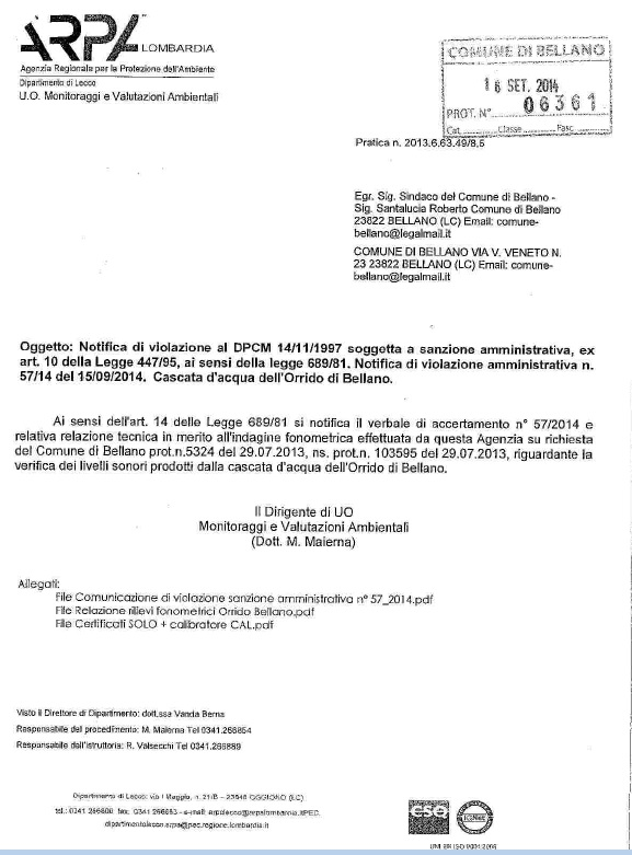 LETTERA ARPA ORRIDO