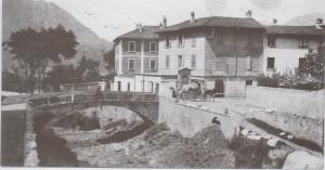 Ponte sul Bione in via Airoldi e Muzzi a Germanedo, 1921