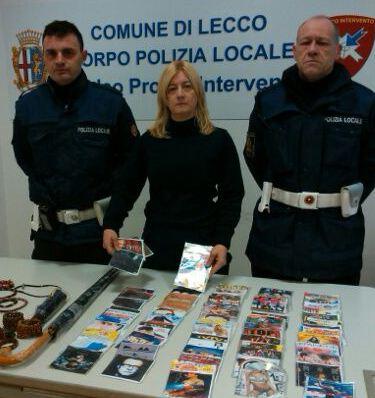polizia locale lecco sequestro merce