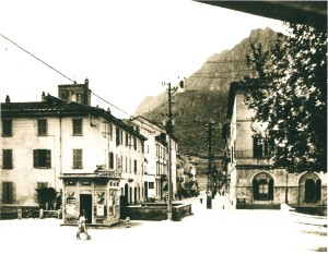 Via Leonardo da Vinci e Questura, Lecco, fine anni '30