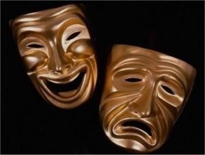 carnevale maschera piange sorride