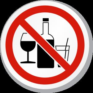 no alcool divieto