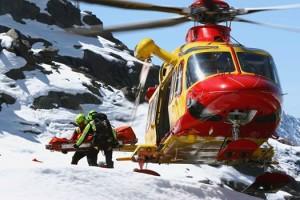 soccorso alpino elicottero neve (facebook)