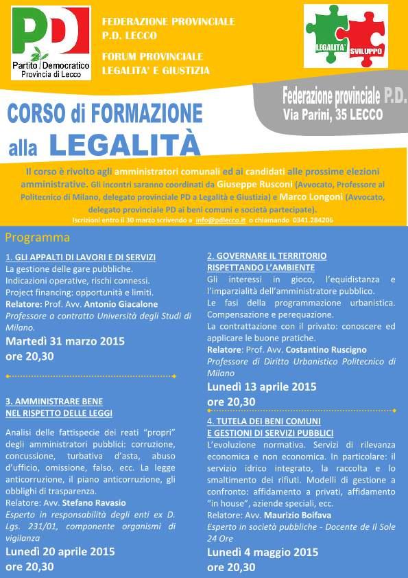 LOCANDINA CORSO LEGALITA' pd lecco-p1