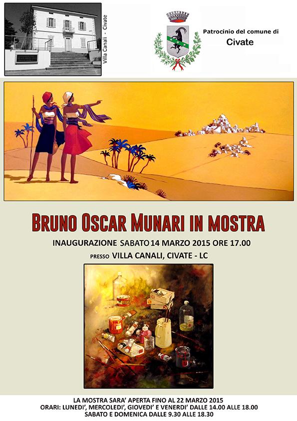 locandina Bruno Oscar Munari  piccola