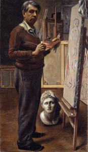De Chirico- Autoritratto nello studio di Parigi
