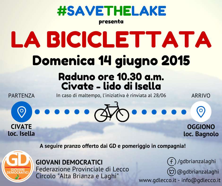 #SAVETHELAKE biciclettata