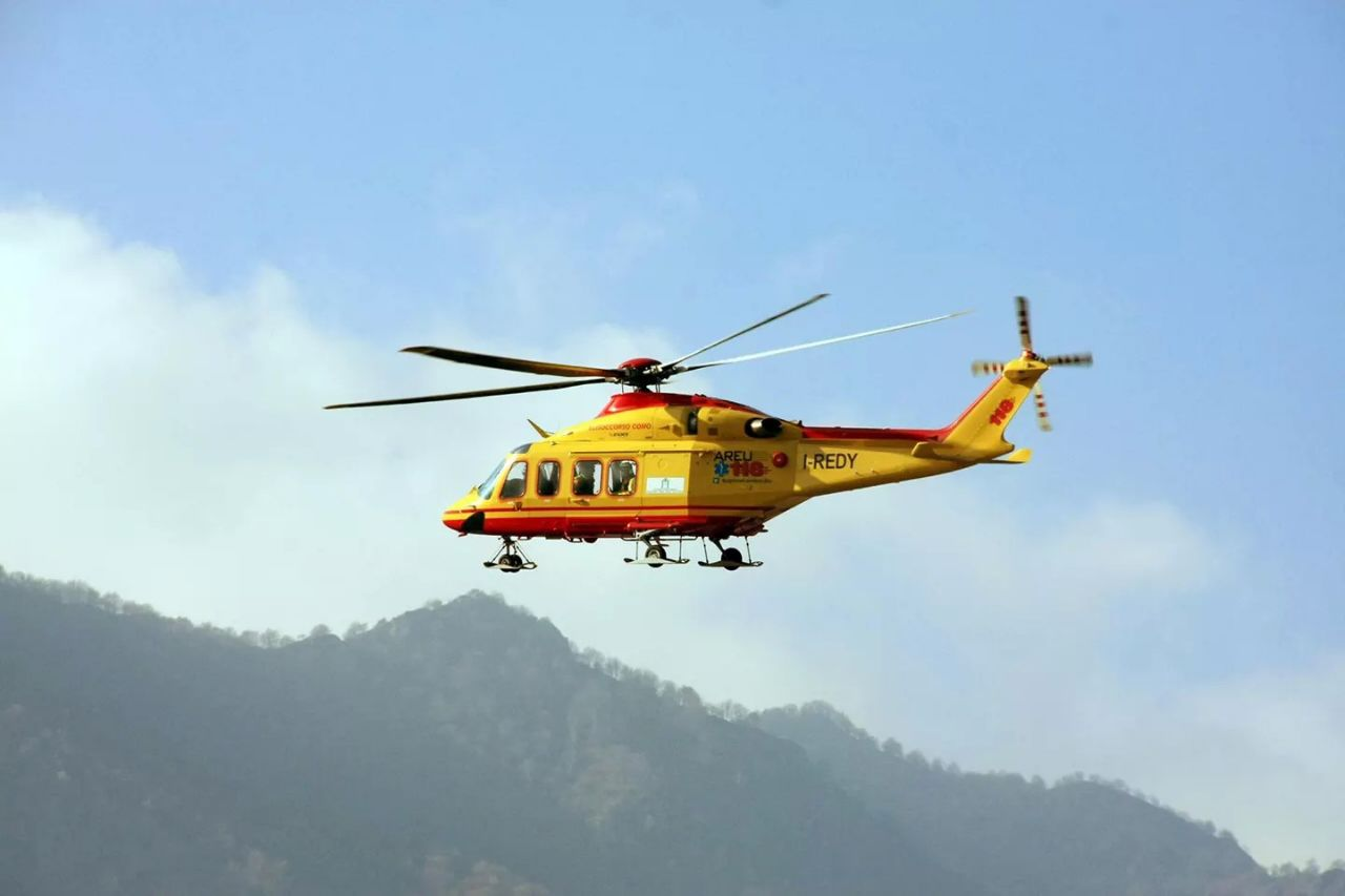 Elicottero 118 : Doppio soccorso in elicottero sui monti della valsassina