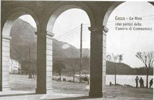 Porto Garibaldi dai portici di Palazzo delle Paure, Lecco, 1907