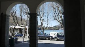 Porto Garibaldi dai portici di Palazzo delle Paure, Lecco, 2015