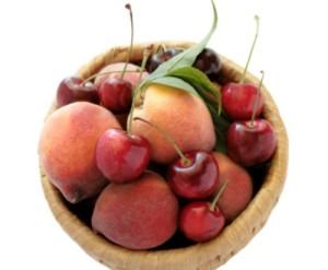 pesche ciliegie frutta