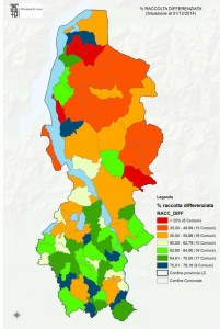 rifiuti provincia cartina comuni