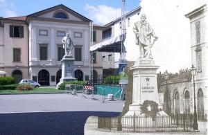TEATRO DELLA SOCIETA' E MONUMENTO A GARIBALDI - LECCO