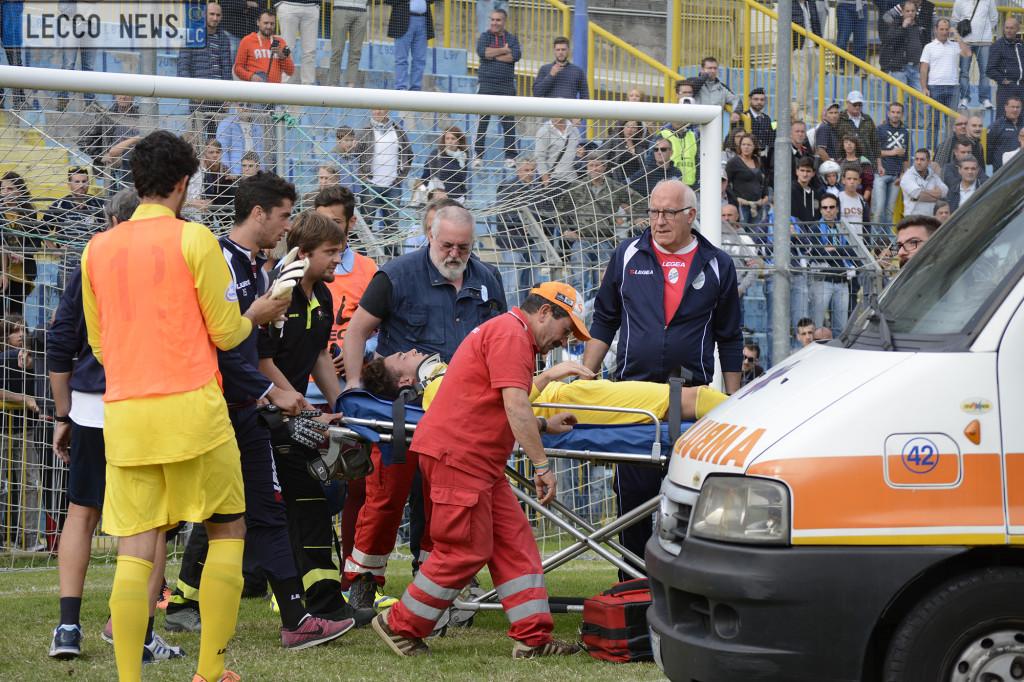 Calcio Lecco Pontisola Ambulanza