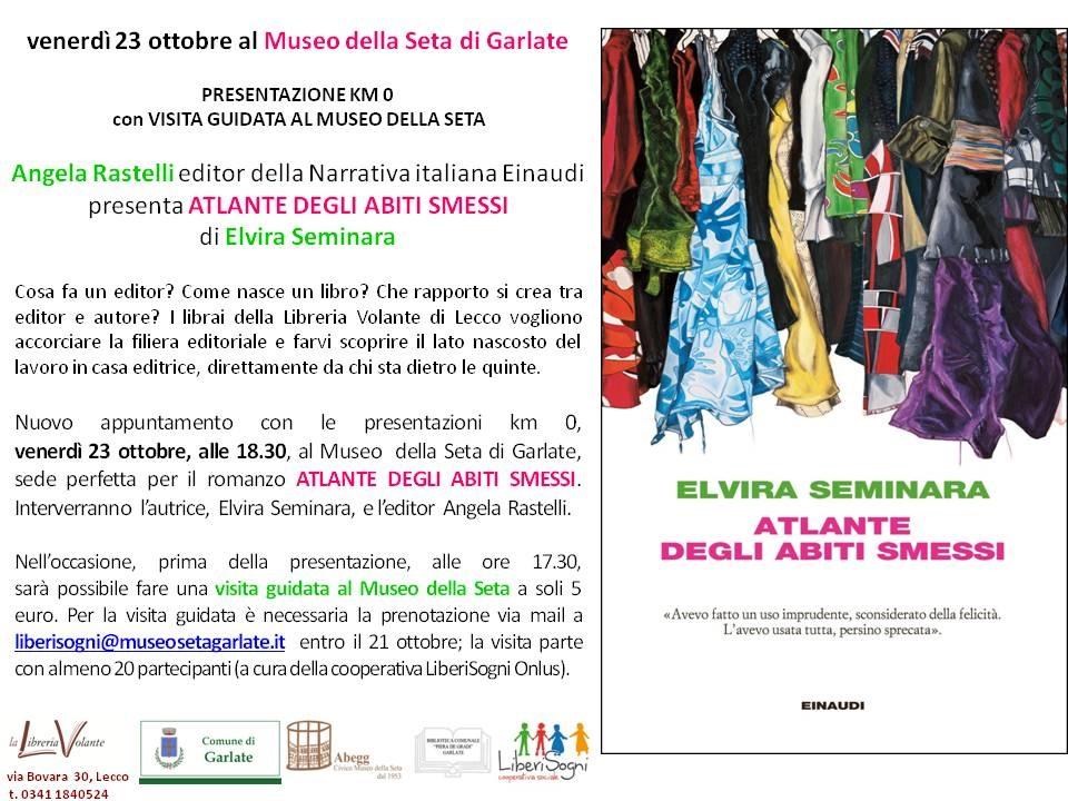 venerdì 23 ottobre ELVIRA SEMINARA al Museo della Seta