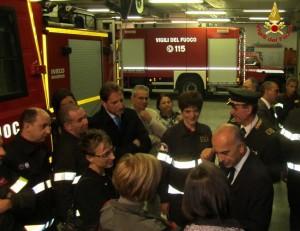 vigili del fuoco pompieri sottosegretario bocci