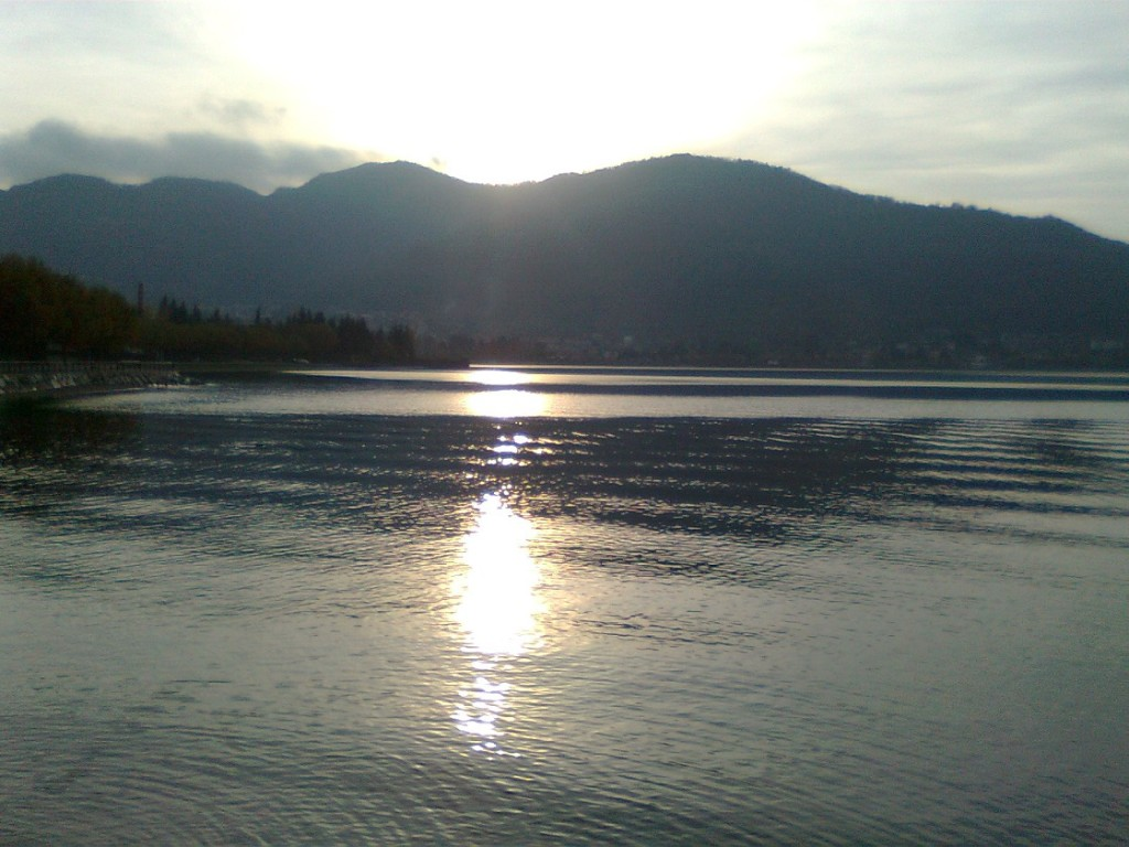 Ciclabile Vercurago tramonto