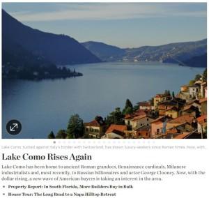 lake como wall street journal