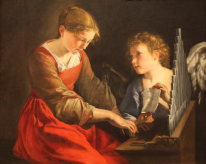 santa cecilia e un angelo di orazio gentileschi e giovanni lanfranco nat gall washington