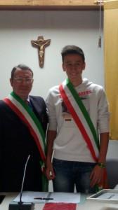 Cesare Valsecchi e sindaco ragazzi
