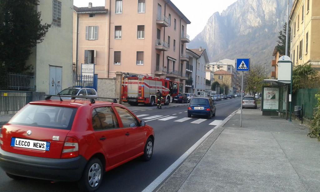 lecco pompieri via pasubio