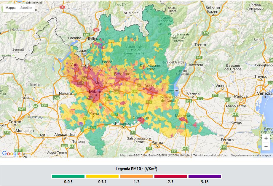 mappa emissioni lombardia 2