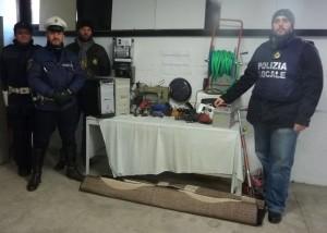 calolzio sequestro polizia locale