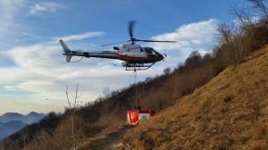 incendio esino elicottero forestale