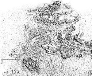 Leonardo da Vinci . Traghetto di Imbersago