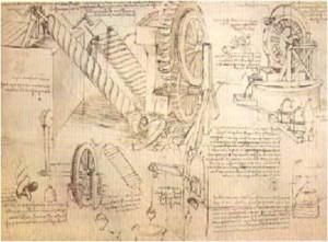 Leonardo da Vinci - Ruota idraulica