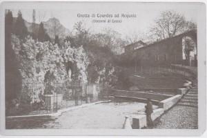 Grotta della Madonna di Lourdes, Acquate, 1915