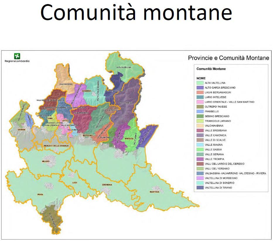 aree vaste 4 comunità montane