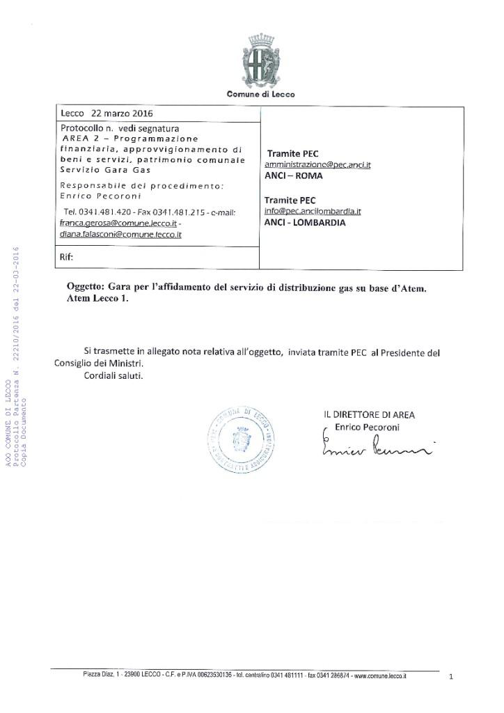 SERVIZI GAS lettera lecco presidenza consiglio-01
