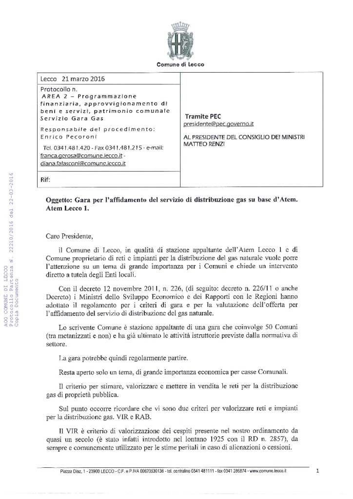 SERVIZI GAS lettera lecco presidenza consiglio-02