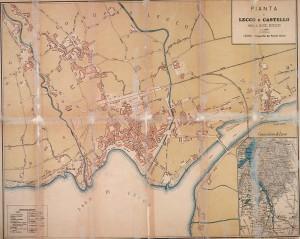 Cartina di Lecco realizzata da Riccardo Mauri