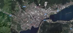 Foto aerea di Lecco presa da Google Maps