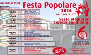 Locandina Festa popolare Lecco